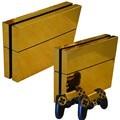 10 tipo de controlador de consola ps4 ps4 etiqueta piel de oro set etiqueta skins protector para sony playstation 4 ps4 consola + controladores