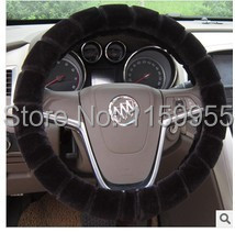 Winter car Steering Wheel Cover thermal Slams Cashmere Car Accessories Winter General K5 A4 A5 A6 X3 X5 car the gloves