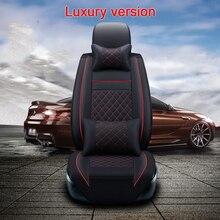 (Delantero y Trasero) alta calidad universal del asiento cojín del asiento de cuero Cubiertas para Mitsubishi asx lancer pajero auto asiento protector