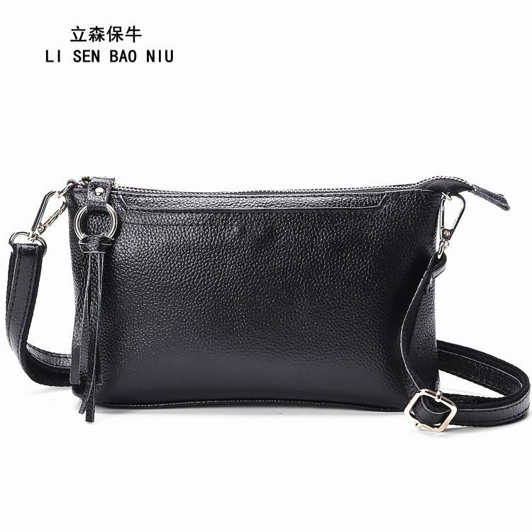 Leather purse cross leather ladies shoulder bag Simple fringe messenger wallet Evening bag casual hand bags