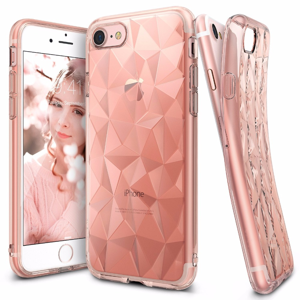 Phone Bags & Cases Fashion Geometric 3d Gradient Diamond Pattern Metal Bumper Tempered Glass Back Cover Tpu Phone Case For Iphone X 6 6s 7 8plus Clear-Cut Texture
