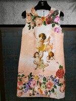 Новинка 2018 Высокое качество модные платье для подиума летние платья Для женщин бренда Элитная одежда Женская одежда A08284