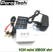 Hot 1Ch Mini DVR Support SD Card Real-time Xbox HD 1 Channel cctv DVR Video Recorder 2pcs free shipping
