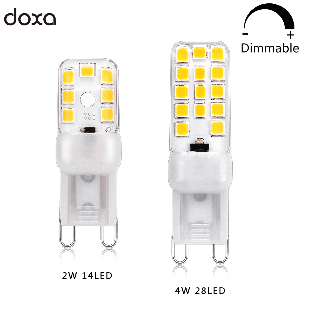 G9 LED Lamp Dimmable 220V 110V 2W 4W Lampada Lampara Leds Light Bulb 14LED 28LED Ampoule 2835SMD Replace 20W 35W Halogen Lamp