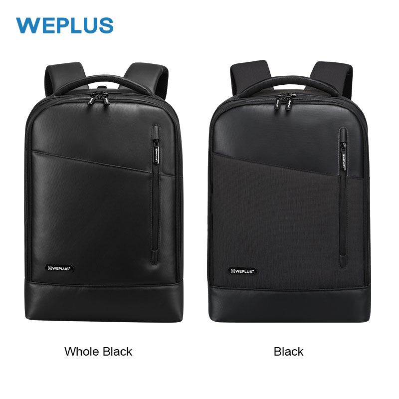 WEPLUS Backpack Leather 15 6 Men Backpack Inch Laptop Backpack Female Anti Theft Travel Bag School
