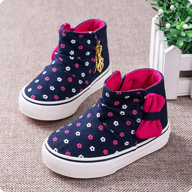 b861d93145 Baby girl shoes girls high shoes cute bow non - slip soft bottom 2017  spring children