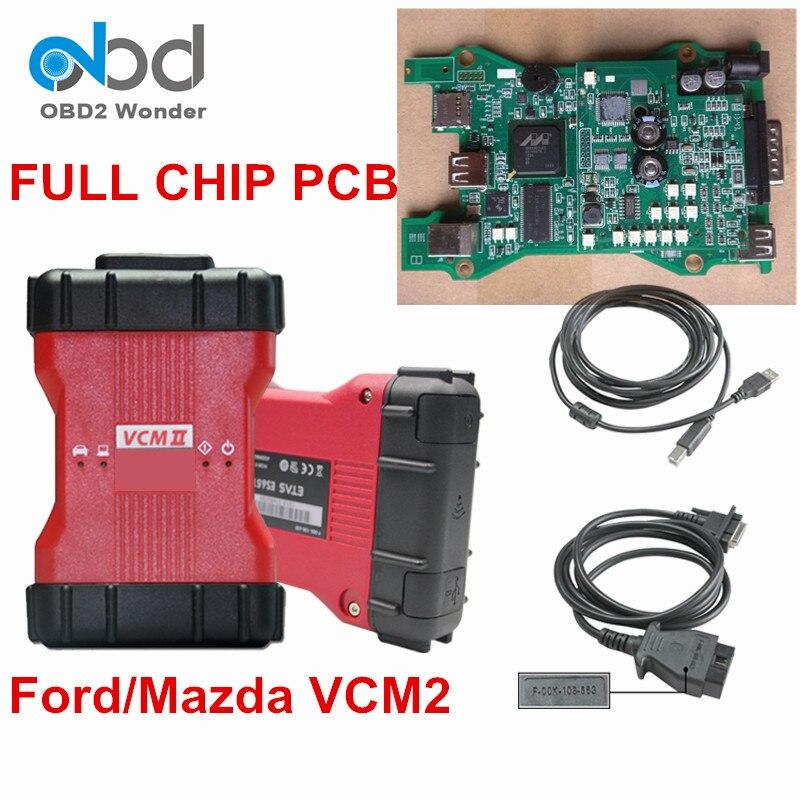 imágenes para DHL Free Full Chip Para Ford VCMII VCM2 VCM Interfaz de Diagnóstico 2 Software IDS VCM II Para Mazda V94 V101 OBDII Escáner herramienta