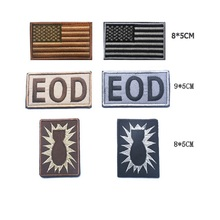 3set/lot Two or three piece a set 3D Embroidery armband American Flag Eod Tactical patches Bomb disposal chapter USARMY armband embroidered patches united states new york state flag patch tactical 3d national flags army armband badge