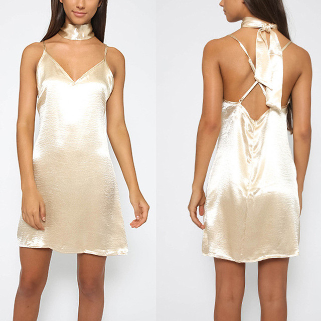 Halter Charming Mini Dress
