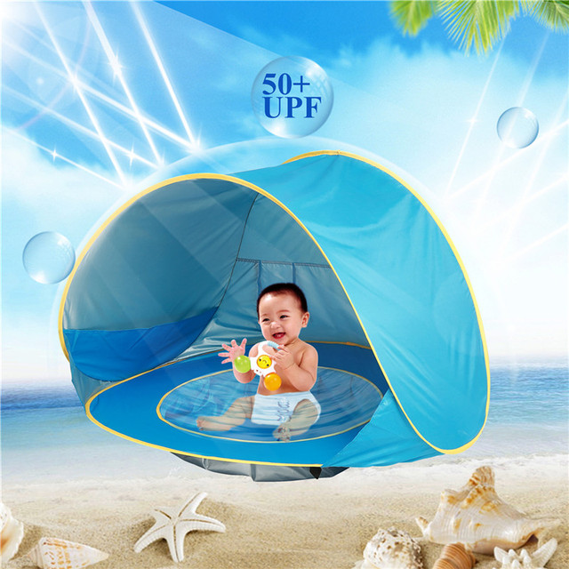 Baby Beach Tent Toy Portable Pop Up Sun Shade Kiddie Tent Pool with Canopy UV Protection  sc 1 st  AliExpress & Baby Beach Tent Toy Portable Pop Up Sun Shade Kiddie Tent Pool with ...