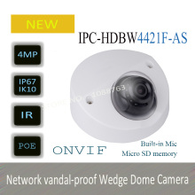 DAHUA 4MP WDR Network Vandalproof IR Wedge Dome Camera IP67 with Fixed Lens Original English Version without Logo IPC-HDBW4421F