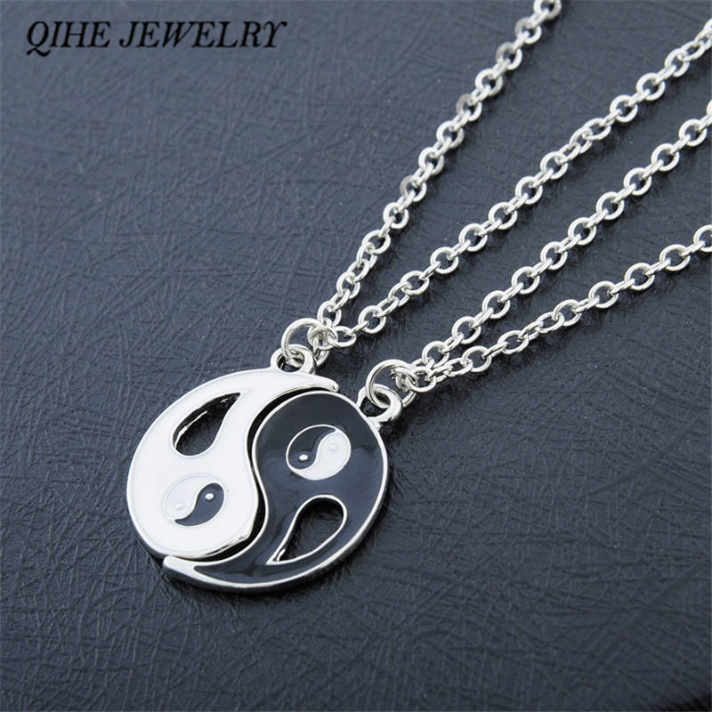 QIHE JEWELRY 2P Friends Couples Alloy Tas