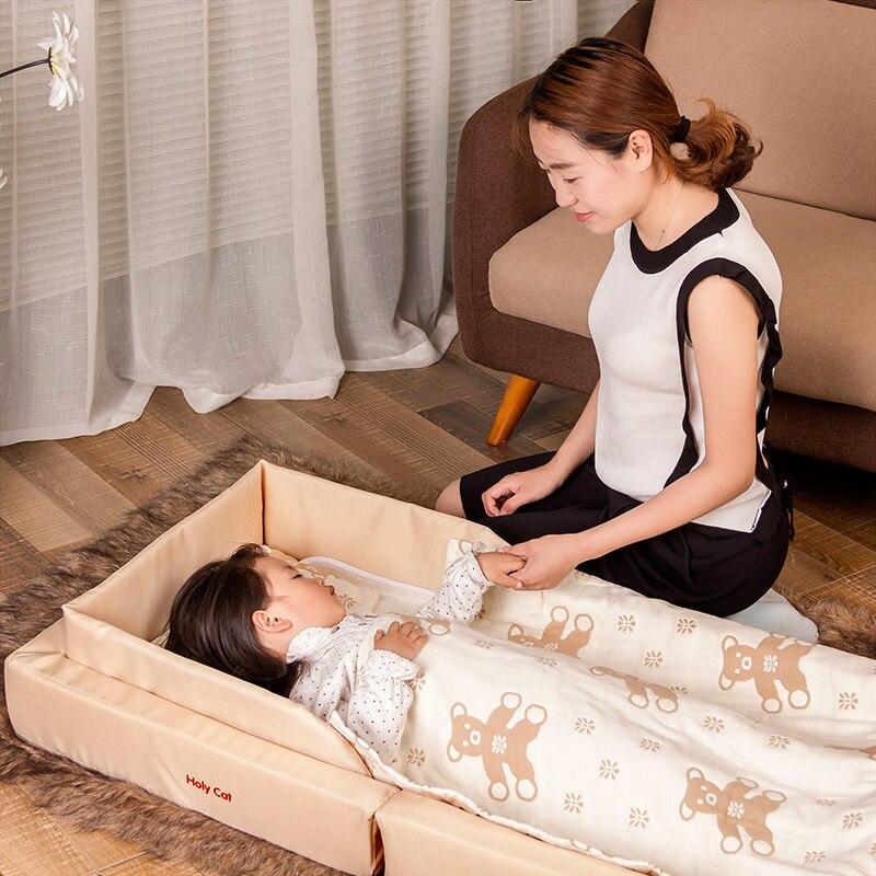 Holycat pliant bébé lit nouveau-né bébé Portable panier voyage lit résistant à la pression avec des cadeaux gratuits