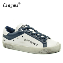 CANGMA Designer Brand Sneakers Vintage Casual Woman Shoes Luxury Handmade Genuine Leather White Bass Breathable Women Shoes