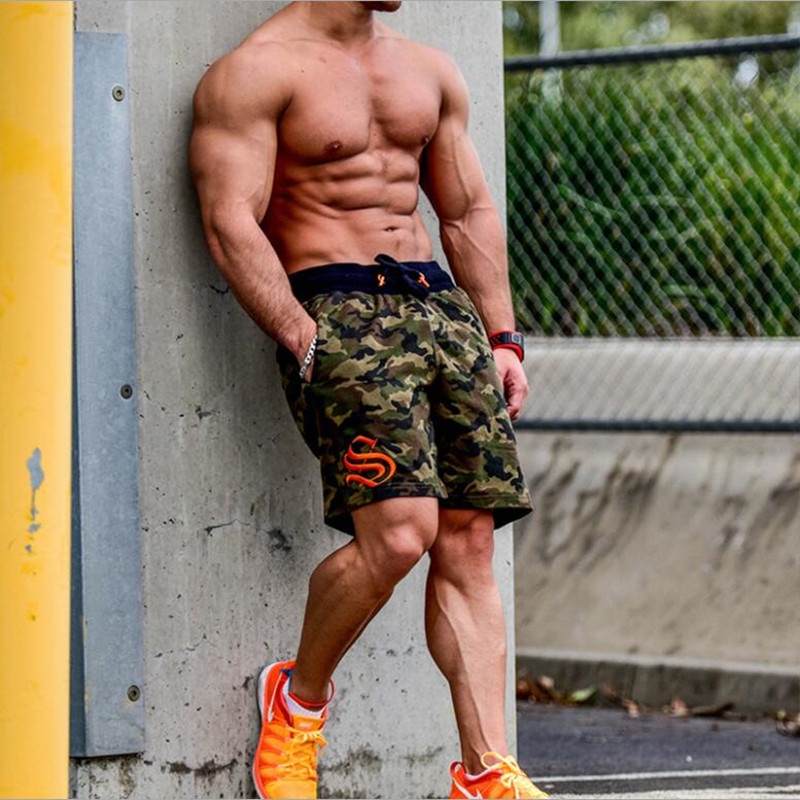 Shorts Workout Running Camouflage Sweatpants Joggers Gym Men Autumn Male Cotton Summer title=