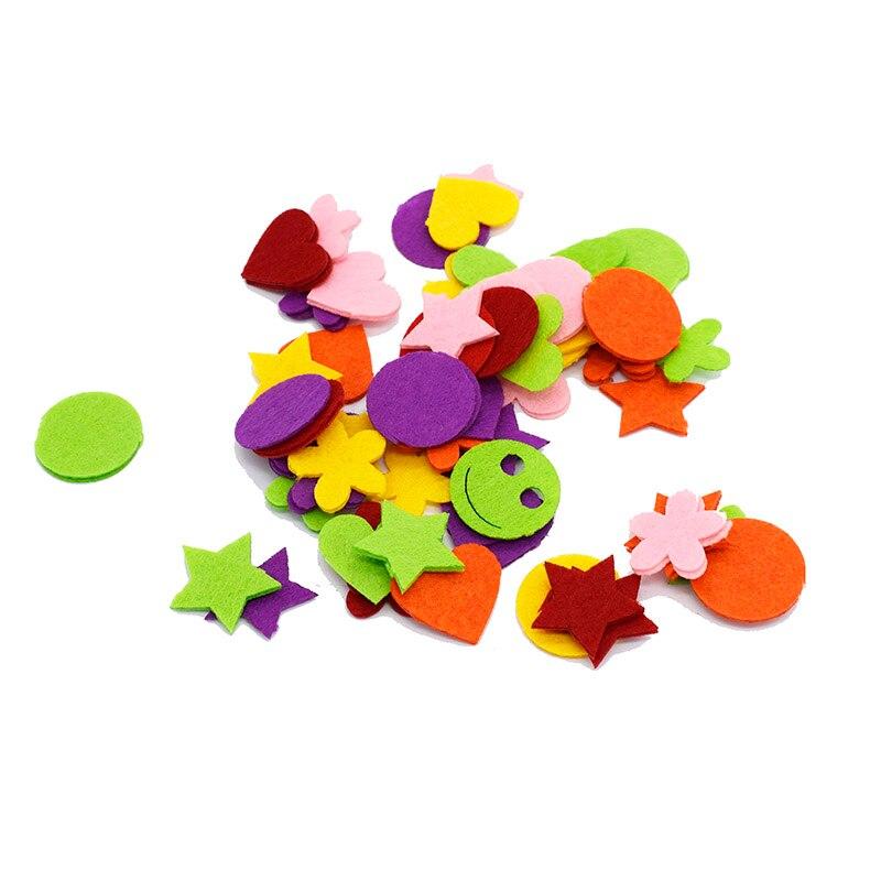 Лазерная резка чувствовал цветы из 1 мм Нетканая войлока сердце/звезда/цветок Mix Цвет дизайн ручной работы diy craft vilt 100 шт./лот