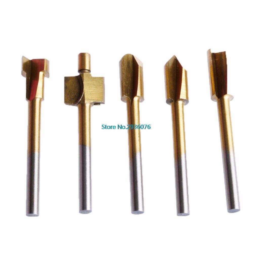 10 sztuk / zestaw 3mm Titanium Mini Hss Bity routera Trymer Shank For - Akcesoria do elektronarzędzi - Zdjęcie 2