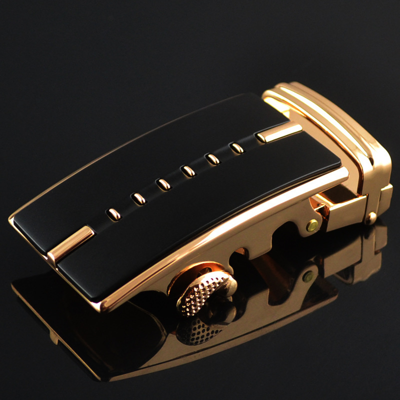 3.5cm Width Men's Belt Buckles Waist Belt Metallic Gold Buckle Luxury Brand Genuine Leather Waist Belt Buckle Head CE709