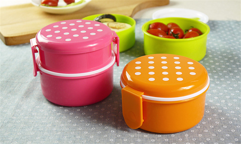 Food Safe Storage Box 1pc Hp9 Non Toxic 2 Layer Dinner Microwave Plastic Container With Fork For Kids And Use 540ml In Dinnerware Sets From Home