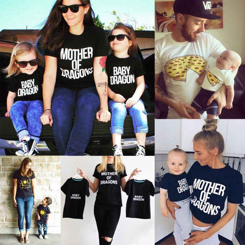 Camisetas gráficas de juego familiar ropa Madre Padre hija hijo bebé niñas niño chico camiseta Tops