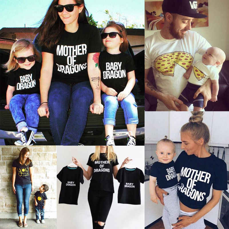 Family Match Graphic Tees Clothing Mother Father Daughter Son Baby Girls Boy Kid Shirt T-shirt Tops