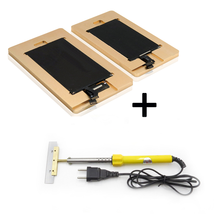Free Shipping 2pcs/lot remove glue mould for Iphone 4 4s 5 5s 5C 6 6plus LCD screen repair + 60W Remove UV glue soldering iron new arrival cnc 3020 800w grind machine milling engraving machine for iphone 4 4s 5 5s 5c 6 6plus main board ic repair