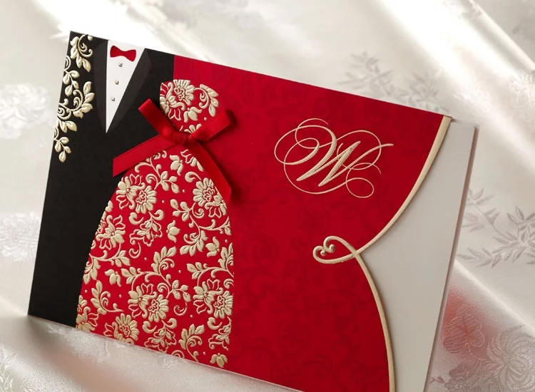 Elegant Wedding Invites Coupon: Shipping Free 50 Pcs Elegant Wedding Invitation Golden