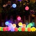 100LED солнечная гирлянда с цветами  сказочные огни 10 м 20 м  водонепроницаемые наружные солнечные гирлянды  декорированные садовые Рождествен...
