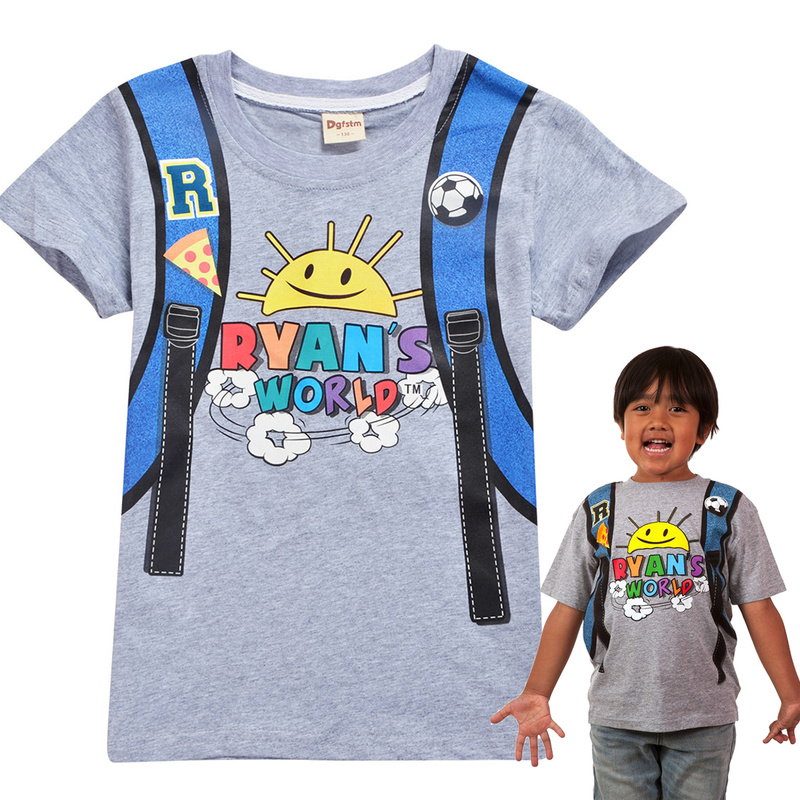 Boys T-Shirts Ninjago-Clothes Ryan-Toys Review Spiderman Striped Clothing Print Kids