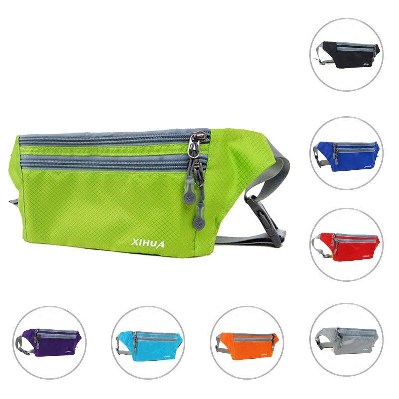 Waterproof Nylon Waist Travel Belt Bag Pack Women Fanny Pack Leisure Mini Waist Zip Bag Military Bag Waist Belt Bag XH122#