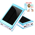 iRepie Free LED Gifts 15000mAh Solar Power Bank 15000 mah External Backup Battery Solar Charger Powerbank for Mobile Phone