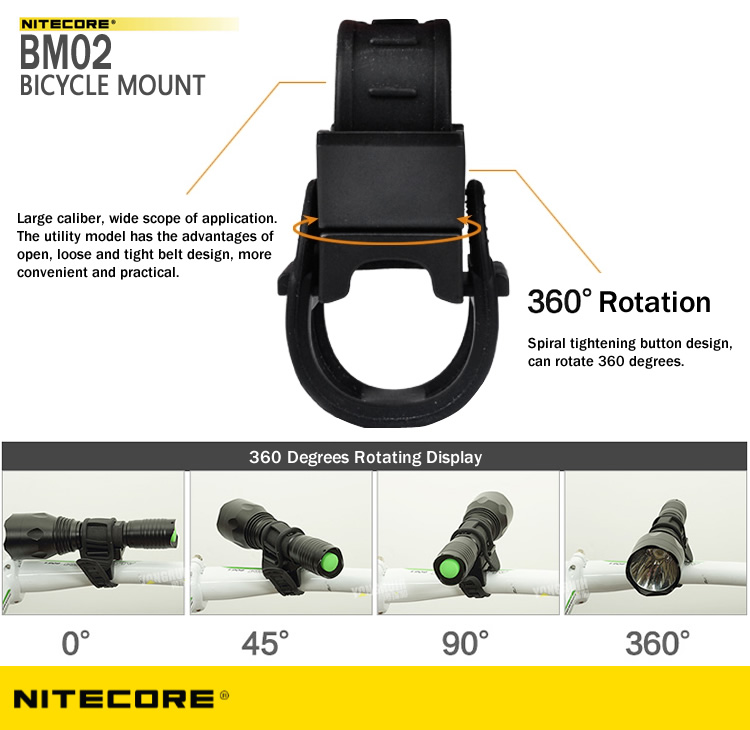 NITECORE BM02 Universal Flashlight Bike Mountm basikal, holder,pemegang, telefon, smartphone, botol, bottle, malaysia, outdoor, ptt outdoor, affordable, water resistant, washable