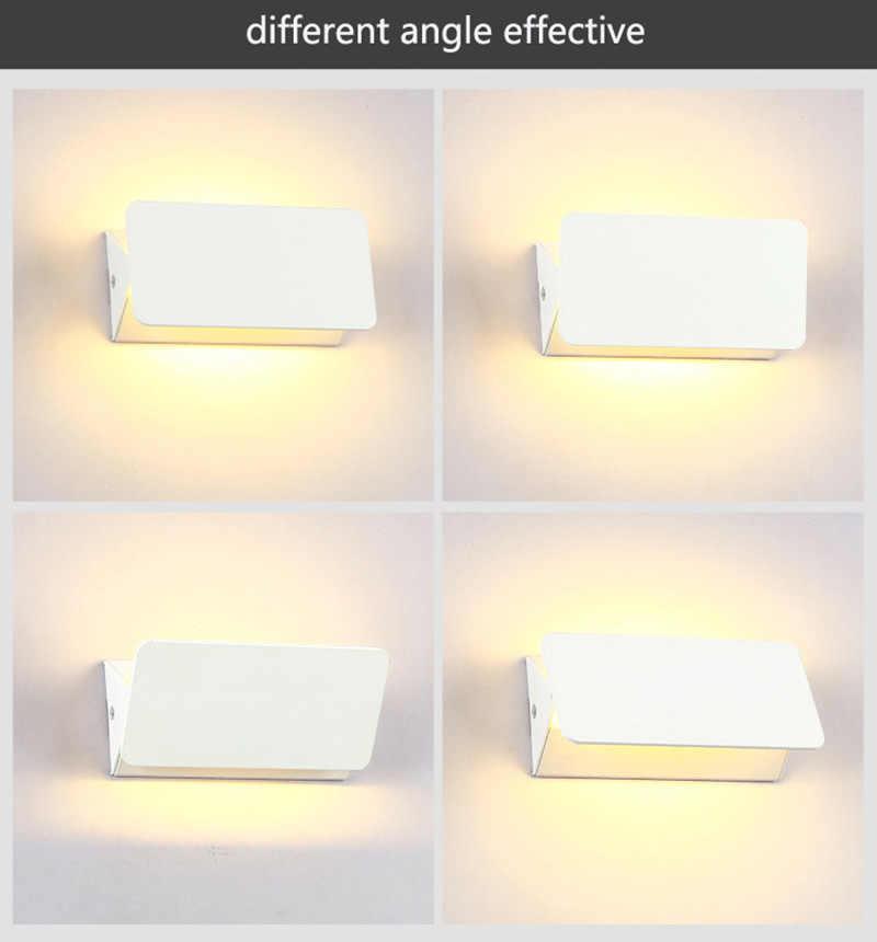 Современная мини деревянная настенная лампа 90 градусов Anglle Гибкая настенная бра освещение спальня гостиная Corrido Кофейня декоративная