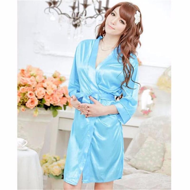 Purple Robe Bride Sleepwear Bridal Dress nightwear Women Bathrobe Nightdress Home Clothe ...