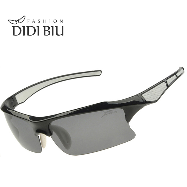 22eaca0c30b DIDI Polarized Semi Rimless Sunglasses Men Women Safety Driving Road Eyewear  Portable Half Military Tactical Edge Ciclismo U295