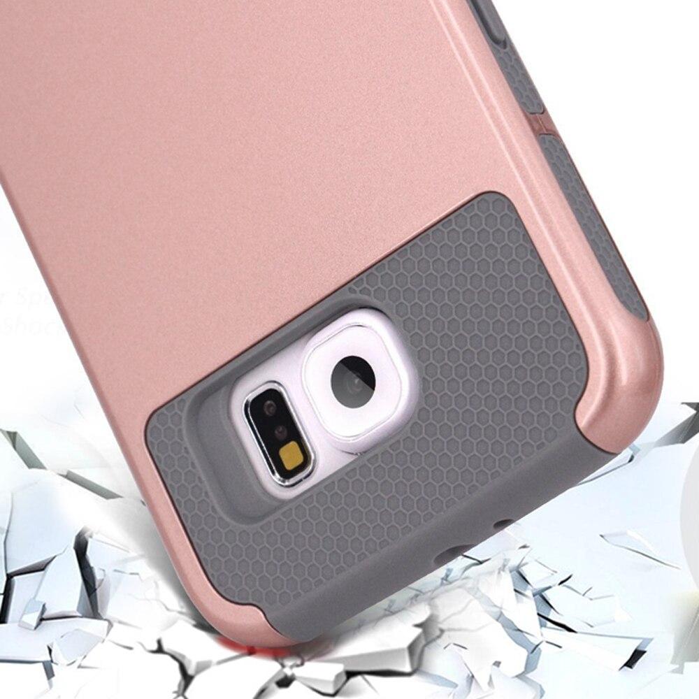 Для Samsung Galaxy <font><b>S7</b></font> <font><b>S7</b></font> <font><b>Edge</b></font> S6 S6 <font><b>Edge</b></font> S6edge плюс чехол противоударный резиновая Пластик сзади защитный чехол для телефона двойной слои крышка