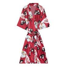 Daeyard Silk Satin Women Fashion Dressing Gown Spring Summer Bride Bridesmaid Robe Kimono Sexy Knee Length Night Robe Sleepwear