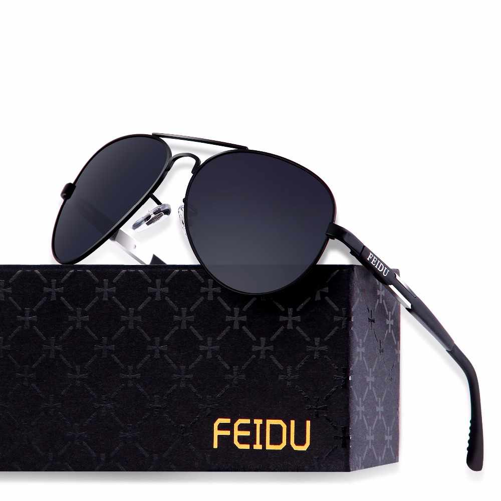 40d2d6ce118 ... FEIDU 2017 High Quality Pilot Alloy Polarized Sunglasses Men Retro  Classic Alloy Frame Sun Glasses Male ...