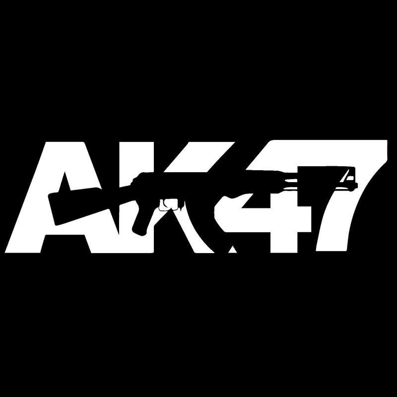 Explosive paragraph selling AK 47 car stickers arms E family car stickers  field military gun lovers car stickers-in Car Stickers from Automobiles ...