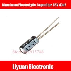 Image 1 - 50 pçs/lote 25 V 47 uF volume 5*11mm 47 uf 25 v eletrolítico de alumínio de alta qualidade capacitor ic
