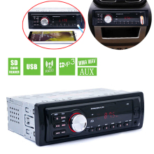 купить 5983 1 DIN In-Dash Car Radio Auto Car Stereo Audio FM Aux Input Receiver Support SD USB MP3 WMA Car Radio Player онлайн