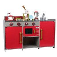Новый европейский кухня Дети моделирование Деревянные Кухонные Игрушки для маленьких детей Интерактивные ролевые игры игрушечные лошадки