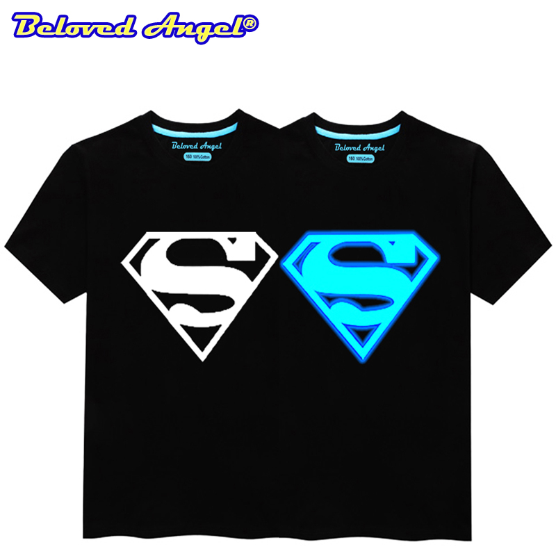 T-Shirts Tops Short-Sleeves Beloved Angel Batman Christmas Superman Girls Boys Summer