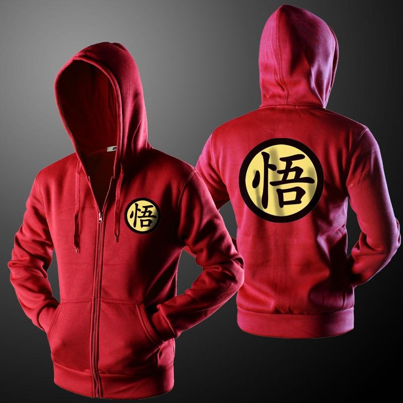 zemtoo Brand Clothing Men's Hoodie Sweatshirts Dragon Ball Z Hoodie Jacket Anime Goku Hooded Zipper Men Cardigan Sweatshirts