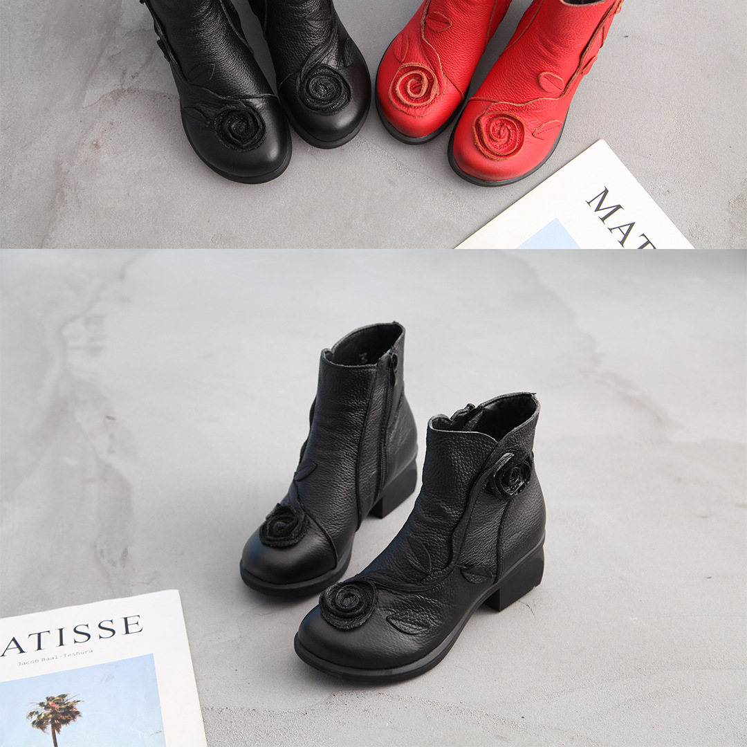 Plus Size 35-42 2019 Ylqp NEW Autumn Winter Women Boots Side Zipper Thick Heel Boots Shoes Woman, Ankle Martin Boots botas mujer