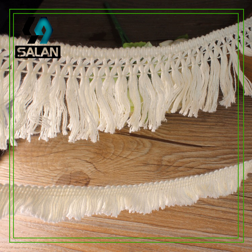 Spot direct supply lace this white wool accessories tassel lace dress tablecloth curtain decoration