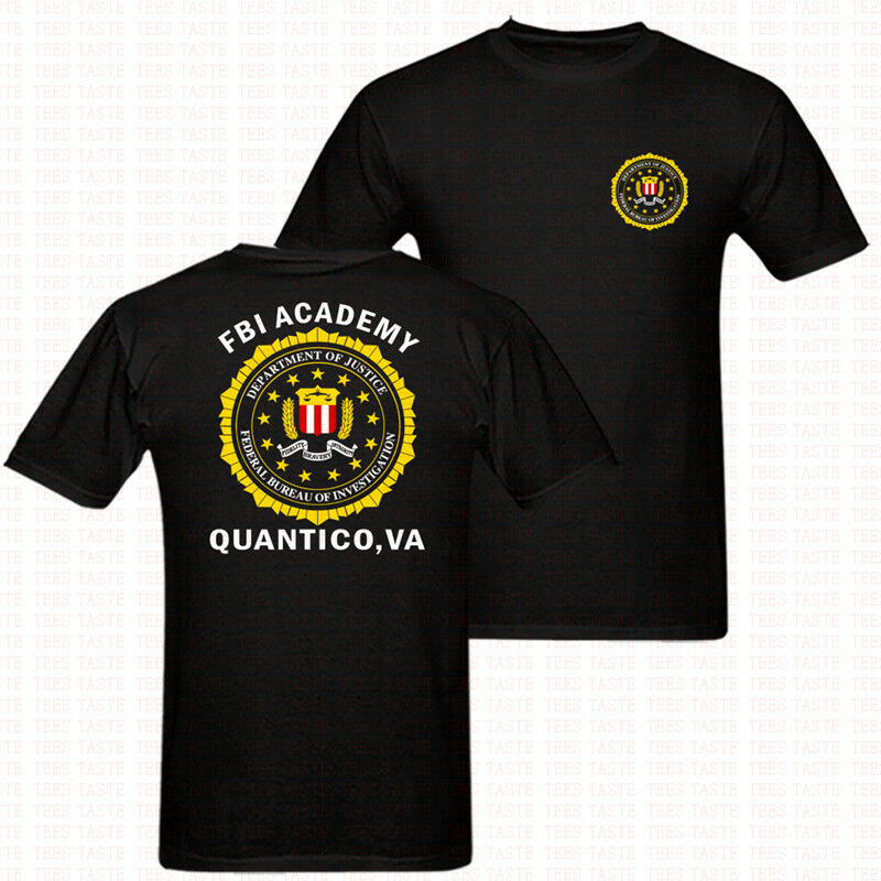 2019 Fashion Double Side Fbi Academy Quantico Va Police United States Department Army T Shirt Unisex Tee