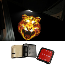 2pcs 3D Cartoon Tiger Wireless Car Door Laser Projector LED Welcome Logo Shadow Projection Light Powered by Battery