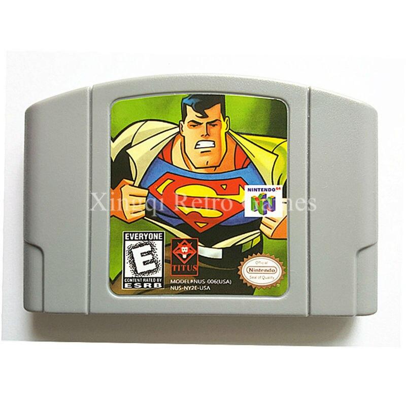 Nintendo N64 Game Superman Video Game Cartridge Console Card English Language US Version