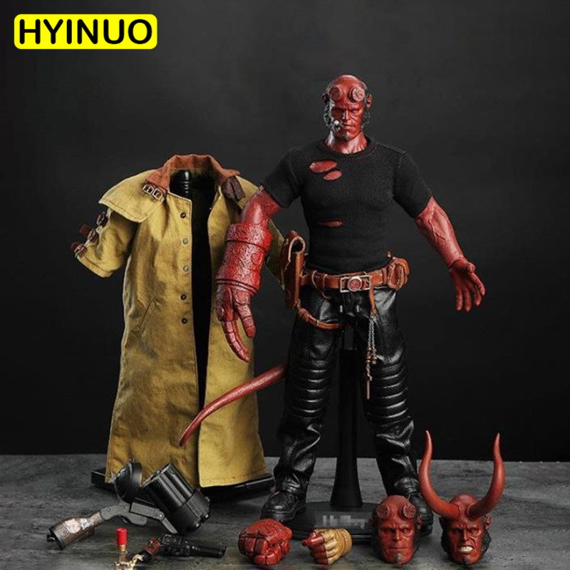 1/6 Escala Hellman HellBoy Com 3 Headsculpt Terno Action Figure Set Modelo Esculpir 12' Full Set Action Figure Bonecas Brinquedos
